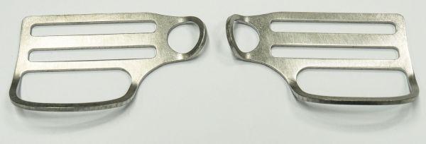 Stegschieber mit Öse und festem D-Ring - TriGlide - Paar rechts/links