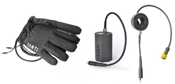 Santi Gloves Combo Set: Heizhandschuhe + Ventildurchführung + SANTI 6 Ah Akkutank