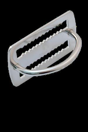 Bleistopper mit 90° D-Ring flach, verschweißt