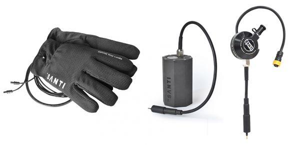 Santi Gloves Combo + Set: Heizhandschuhe + Thermoventil + SANTI 6 Ah Akkutank