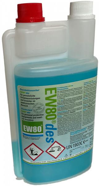 Desinfektionsmittel EW80 des 1-Liter Dosierkammerflasche
