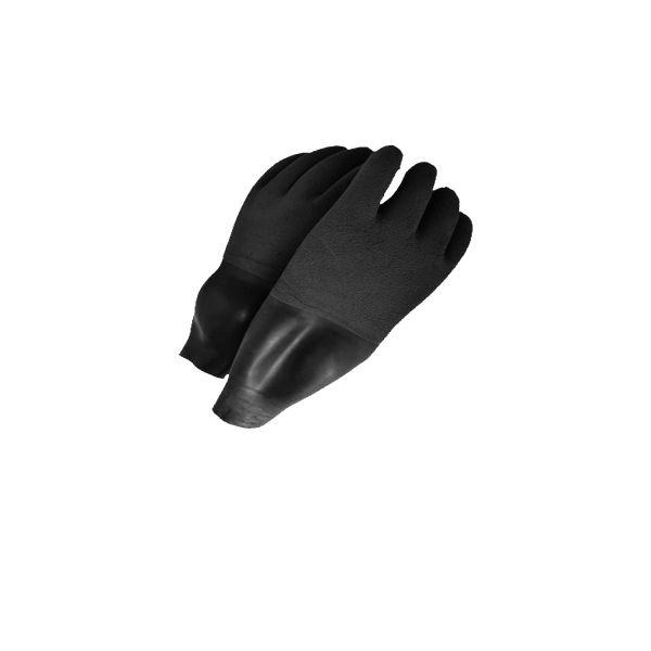 Trocken-Handschuhe mit integrierter Latex-Manschette (grau)