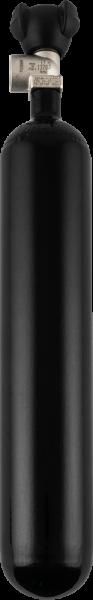 Stahlflasche 1,8 Liter 200 bar, 82,5 mm Durchmesser mit Monoventil DIN