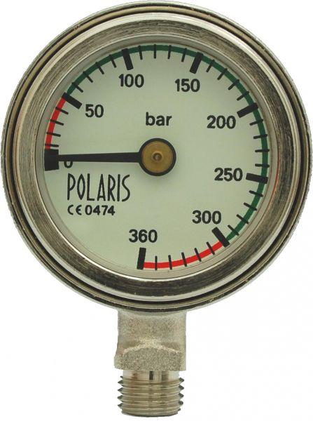 "Polaris Tek Finimeter ""Deep"", 50mm, 300bar, weißes Ziffernblatt"