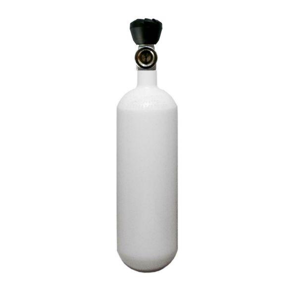 ECS Stahlflasche 1 Liter 200 bar, 82,5 mm Durchmesser mit Monoventil M18x1,5