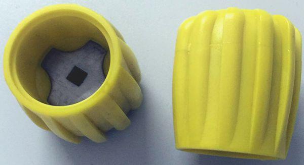 Handrad für Polaris Ventile Gelb (Rubber Knob Yellow)